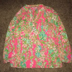 southern charm lilly pulitzer print elsa top